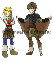 Hiccup and Astrid by therealtwilightstar