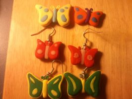 Butterfly Earrings and Pendant by UntouchedRayne