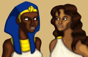 Rival Queens of the Nile by BrandonSPilcher