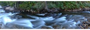 Middle St Vrain Creek Panorama by Goldleo