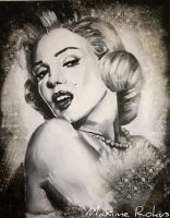 Marilyn Monroe painting by maximerokus