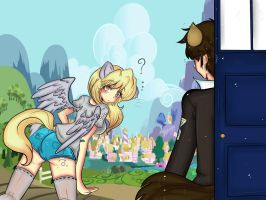 Doctor and Derpy by Invader-celes