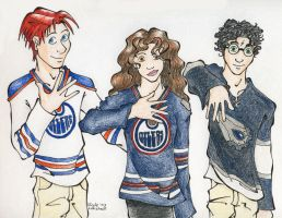 The Trio Oilers Style by TinyQ