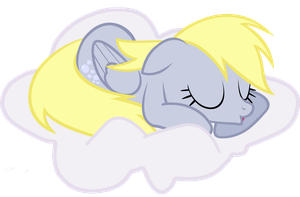 Derpy sleeping on a cloud ... by BlueDragonHans