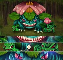 BIV - Bulbasaur Family by EmeSso