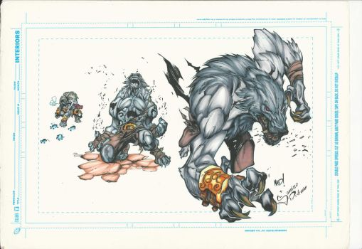 Batlle Chasers Werewolf by Sandrotrs