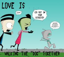 ZaDr love is...walking the dog by Art-forArts-Sake