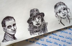 Mini Doctor Who Drawings by Waldbraut
