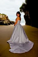 Bride on the beach by 2binspired