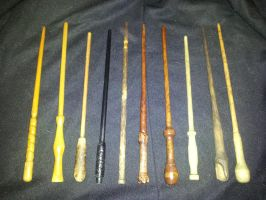 My collection of handmade wands by SanHolo80