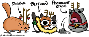 Christmas Cats by pickles-4-nickles