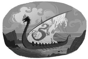 Viking Boat by Nafah