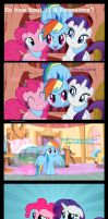 Rainbow Dash, Pinkie Pie And Rarity - Threesome by FoooxFT
