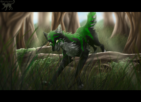 pt commission - Green forest by Kocurzyca