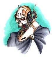Steampunk Grievous portrait by G1d4n