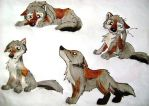wolf pup in many poses by HowlingWolfSong