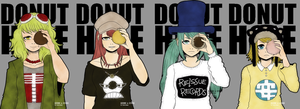 DONUT HOLE friendship necklaces by SoloAzume