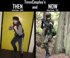 Then and Now 1 - Snake by TimmCosplay