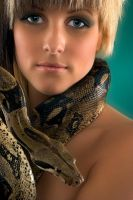 Portrait with the snake by 121an