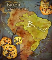 Brazil pedro II map by Beastysakura