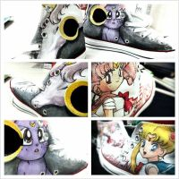 Sailor Moon chucks by noahsartcustoms