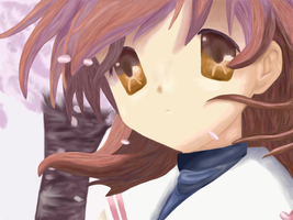 Paintover - Nagisa by Roseheart53