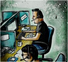 Call-centre Heroes by peileppe