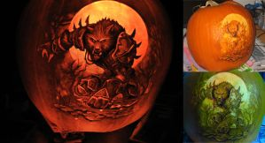 Warcraft pumpkin 2009 by qw3323