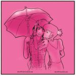 Prince Gumball and Marshall Lee Under the Umbrella by diru915