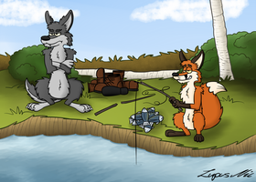 Fishing by LupusNic