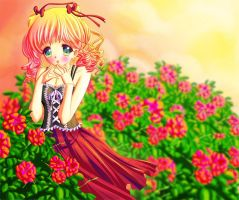 Sunset Roses by Tetiel