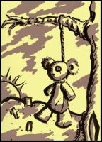 The Hanging Teddy by roverpup