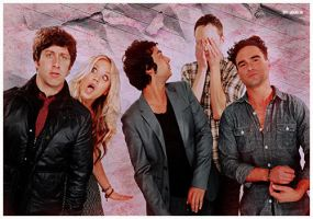 Banner TBBT Cast at comic con by HappinessIsMusic