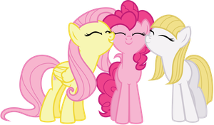Fluttershy, Pinkie and Libman by Midnight--Blitz