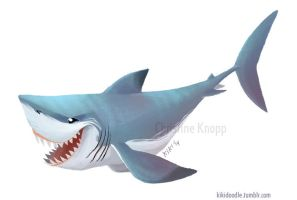 Great White Sticker by kiki-doodle
