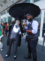 RJ Haddy as penguin w/ Lord Blackwater by pa68