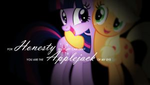 Honesty - Applejack Of My Eye (Desktop Wallpaper) by daniel10alien