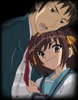 Haruhi and Kyon by Nur-Ab-Gal