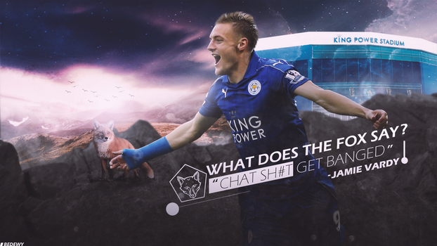 Jamie Vardy wallpaper by OmarBedewyGFX