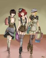 steampunk shopping day by shiroiko