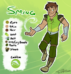 Spring Reference Sheet [Battle Outfit] by JustAutumn