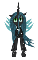 Young Queen Chrysalis by SpaceHunt