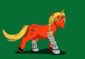 Edward Elric--FullMetal Pony by Poofiemus