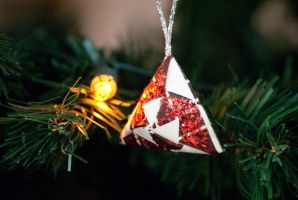 Red Jewel Christmas Ornament by karatechick13