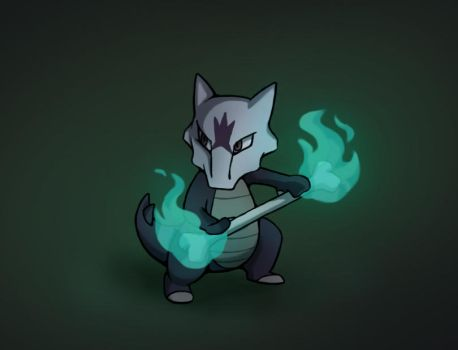 Alolan Marowak by PokeGirl5
