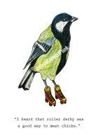 Rollerblading Great Tit by NeedlepointPunk