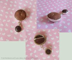 Pebble and Dino Poop Brooch by CantankerousCupcake