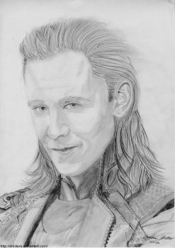 Loki Traditional Art by Erkillers