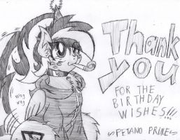 Thank Your For the Birthday Wishes!!! by PetanoPrime