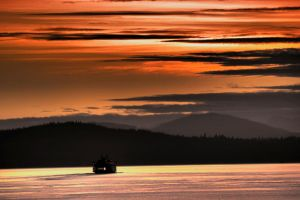 Puget Sound Ferry by CPJPhoto